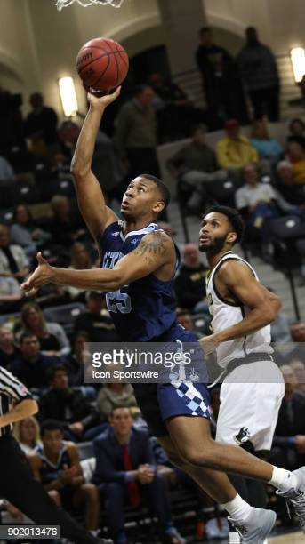 Alex Reed forward The Citadel Bulldogs takes a shot during the The Citadel Bulldogs versus Wofford Terriers game on January 6 at the Jerry Richardson...
