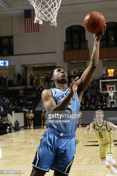 Alex Reed of The Citadel goes up for a shot during a college basketball game between The Citadel Bulldogs and the Wofford Terriers on January 3 2018...