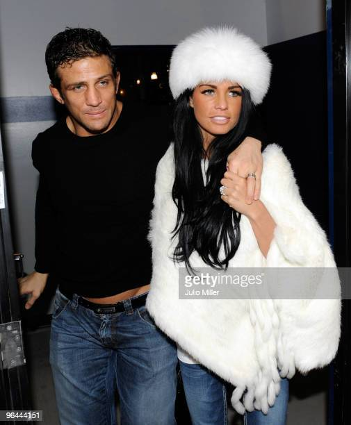 Alex Reid and Katie Price are seen with wedding rings on February 4 2010 in Las Vegas Nevada