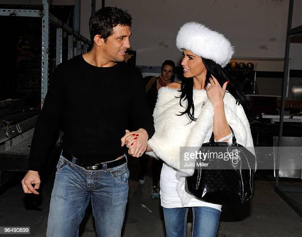 LAS VEGAS FEBRUARY 04 Alex Reid and Katie Price are seen with wedding rings on February 4 2010 in Las Vegas Nevada