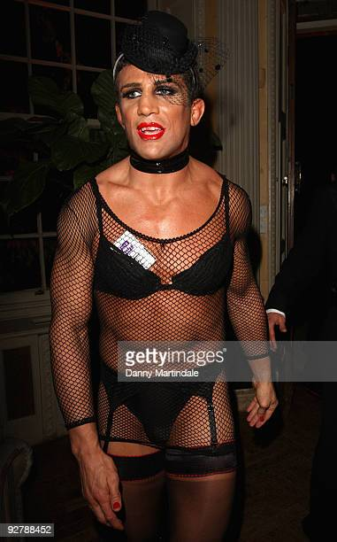 Alex Reid dressed as a woman attends The Bloodlust Ball at Hampton Court Palace on October 31 2009 in London England
