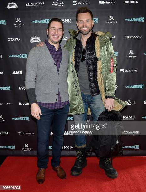 Alex Reiff and actor Joel McHale attend the Gamechanger Films reception at the RAND Luxury Escape during the 2018 Sundance Film Festival at The St...