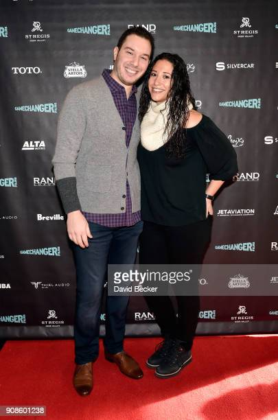 Alex Reiff and Jackie Strause attend the Gamechanger Films reception at the RAND Luxury Escape during the 2018 Sundance Film Festival at The St Regis...
