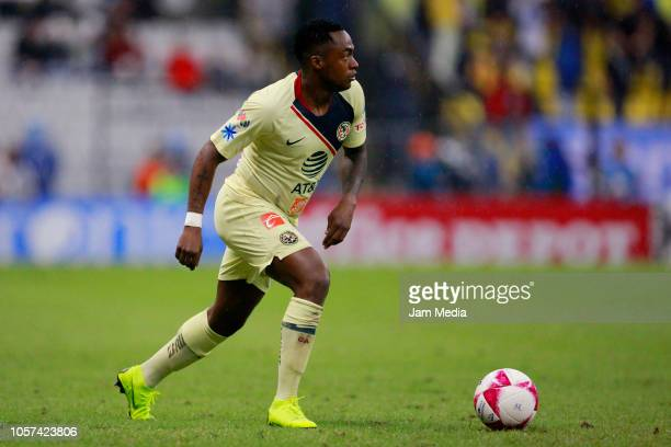 Alex Renato Ibarra of America in action during the 13th round match between America and Tijuana as part of the Torneo Apertura 2018 Liga MX at Azteca...