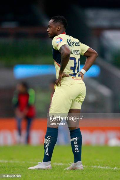 Alex Renato Ibarra of America looks on during a match between America and Juarez as part of Round of eighth of Copa MX Apertura 2018 at Azteca...