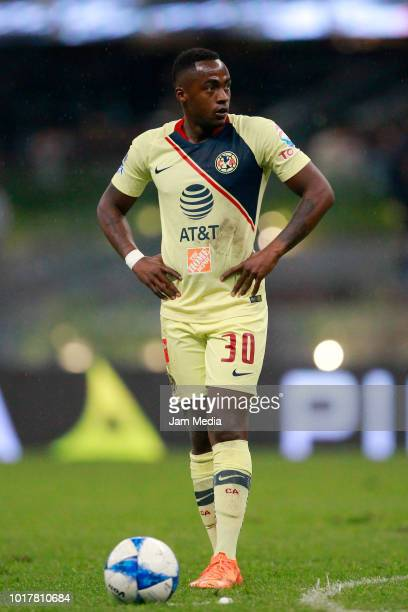 Alex Renato Ibarra of America looks on during the fourth round match between Club America and Monterrey as part of the Torneo Apertura 2018 Liga MX...