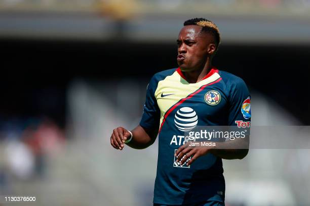 Alex Renato Ibarra of America looks on during the seventh round match between Pumas UNAM and America as part of the Torneo Clausura 2019 Liga MX at...