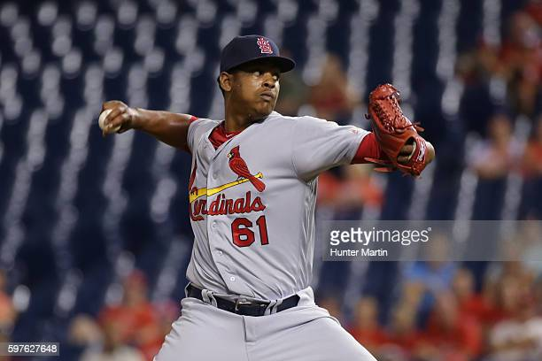 Alex Reyes of the St Louis Cardinals during a game against the Philadelphia Phillies at Citizens Bank Park on August 19 2016 in Philadelphia...