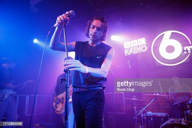 Alex Rice of Sports Team performs at the Roundhouse Sackler Space on day 1 of BBC Radio 6 Music Festival on March 06 2020 in London England