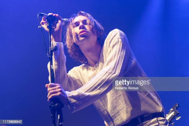 Alex Rice of Sports Team performs onstage at O2 Academy Glasgow on October 5 2019 in Glasgow Scotland