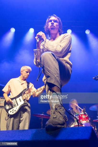 Alex Rice of Sports Team performs onstage at O2 Academy Glasgow on October 5, 2019 in Glasgow, Scotland.