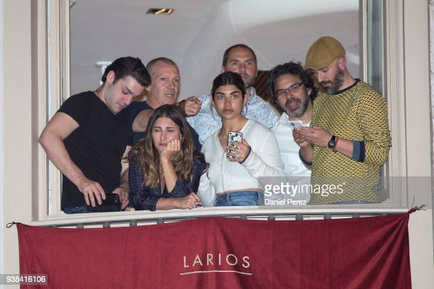 Alex Rich and Antonio Banderas and Ken Biller attend the Crucifixion procession during Holy Week celebrations on March 26 2018 in Malaga Spain
