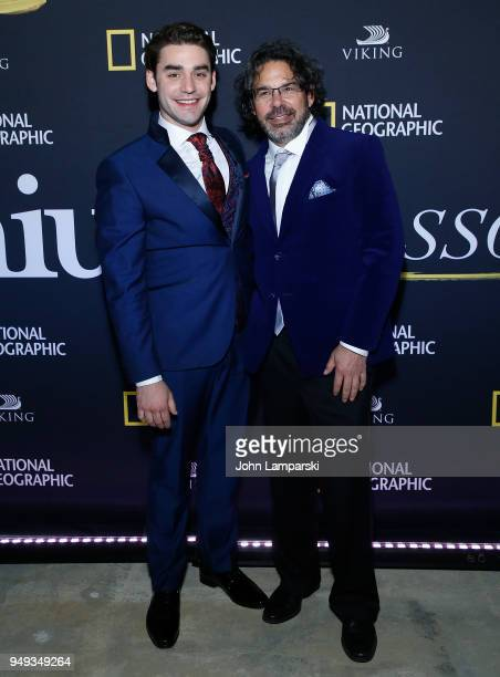 Alex Rich and Ken Biller attends 'Genius Picasso' after party during the 2018 Tribeca Film Festival on April 20 2018 in New York City