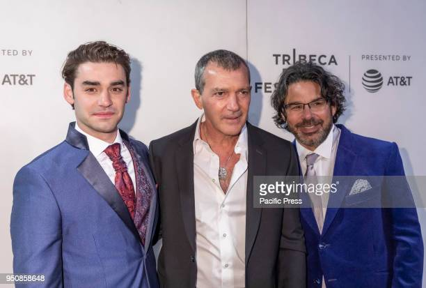 Alex Rich Antonio Banderas Ken Biller attend screening of Genius Picasso' during the 2018 Tribeca Film Festival at BMCC Tribeca PAC Manhattan