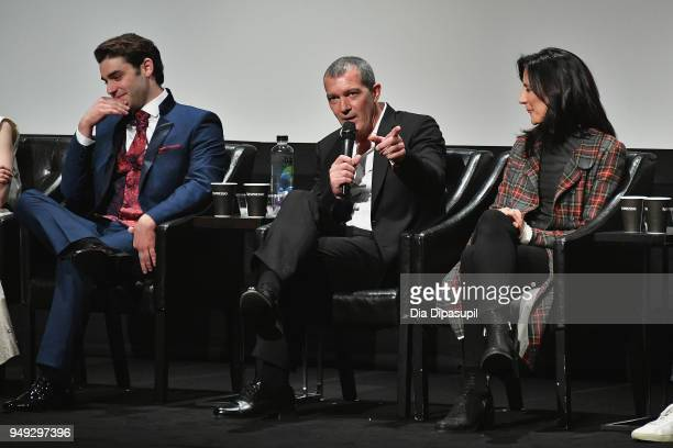 Alex Rich Antonio Banderas speaks onstage at the 'Genius Picasso' premiere during the 2018 Tribeca Film Festival at BMCC Tribeca PAC on April 20 2018...