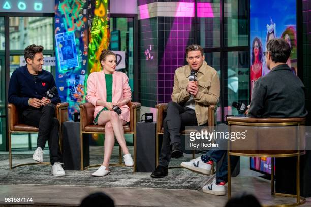 Alex Richanbach Gillian Jacobs and Richard Madden discuss 'Ibiza' with the Build Series at Build Studio on May 22 2018 in New York City