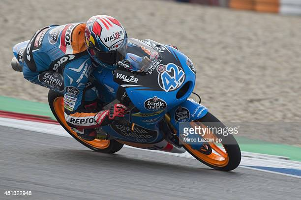 Alex Rins of Spain and Estrella Galicia 00 heads down a straight during the MotoGP of Netherlands Qualifying at TT circuit on June 27 2014 in Assen...