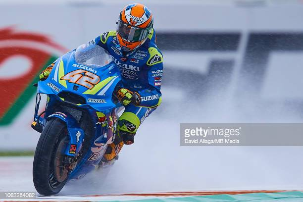 Alex Rins of Spain and Team Suzuk Ecstar during the MotoGP of Valencia Free Practice at Ricardo Tormo Circuit on November 16 2018 in Valencia Spain