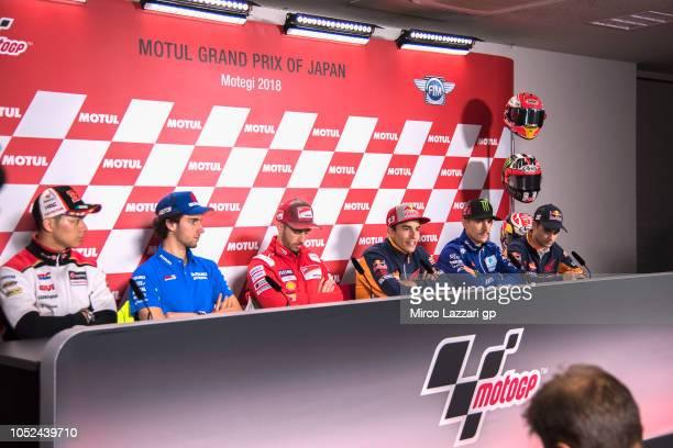 Alex Rins of Spain and Team Suzuki ECSTAR, Andrea Dovizioso of Italy and Ducati Team, Marc Marquez of Spain and Repsol Honda Team, Maverick Vinales...