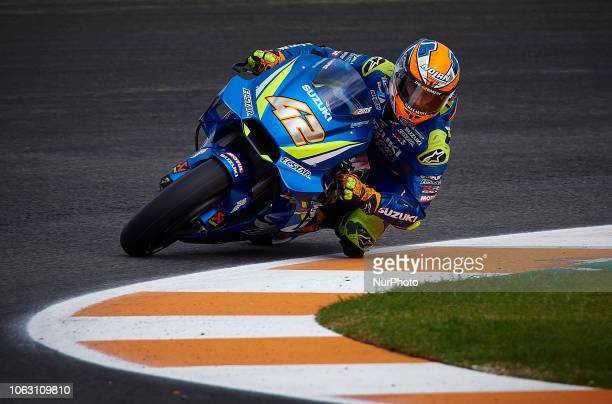 Alex Rins of Spain and Team Suzuki Ecstar during the qualifying of the Gran Premio Motul de la Comunitat Valenciana of world championship of MotoGP...