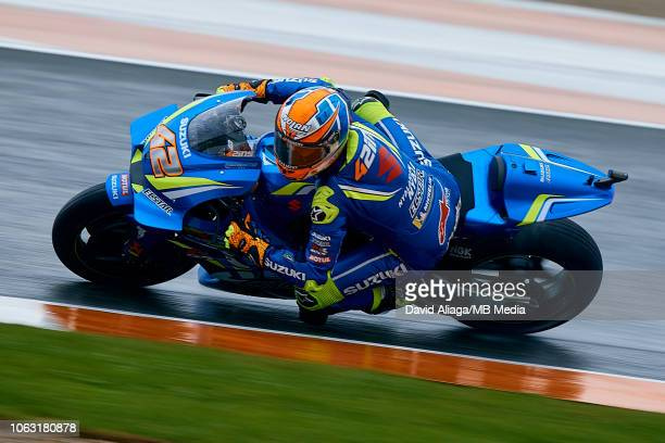 Alex Rins of Spain and Team Suzuki Ecstar rides during the MotoGP of Valencia Race at Ricardo Tormo Circuit on November 18 2018 in Valencia Spain