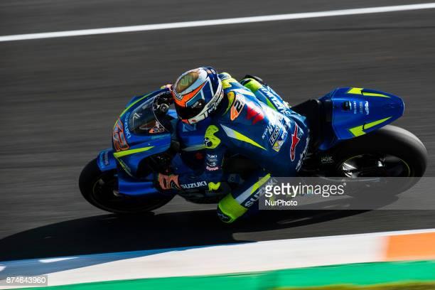 Alex Rins Team Suzuki Ecstar during the tests of the new season MotoGP 2018 Circuit of Ricardo TormoValencia Spain Wednesday 15th of november 2017