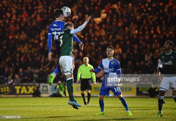 Alex Rodman of Bristol Rovers scores his side's first goal during the FA Cup Second Round Replay between Plymouth Argyle and Bristol Rovers at Home...