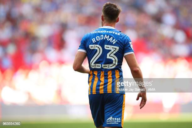 Alex Rodman of Shrewsbury Town during the Sky Bet League One Play Off Final between Rotherham United and Shrewsbury Town at Wembley Stadium on May 27...