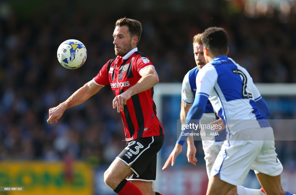 Alex Rodman of Shrewsbury Town in action during the Sky Bet League One match between Bristol Rovers and Shrewsbury Town at Memorial Stadium on April 1, 2017 in Bristol, England.
