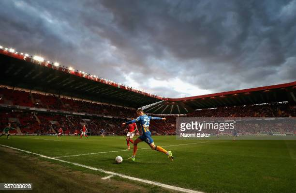 Alex Rodman of Shrewsbury Town in action during the Sky Bet League One Play Off Semi Final First Leg match between Charlton Athletic and Shrewsbury...