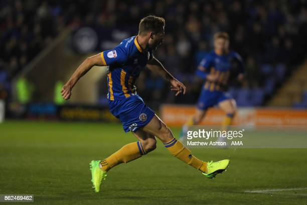 Alex Rodman of Shrewsbury Town scores a goal to make it 10 during the Sky Bet League One match between Shrewsbury Town and Bristol Rovers at New...