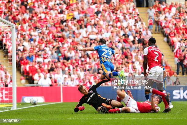 Alex Rodman of Shrewsbury Town scores a goal to make it 11 during the Sky Bet League One Play Off Final between Rotherham United and Shrewsbury Town...