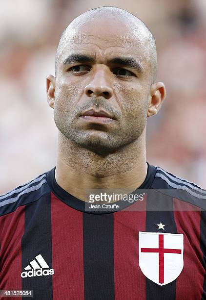 Alex Rodrigo Dias da Costa of AC Milan looks on before the friendly match between Olympique Lyonnais and AC Milan at Stade de Gerland on July 18 2015...