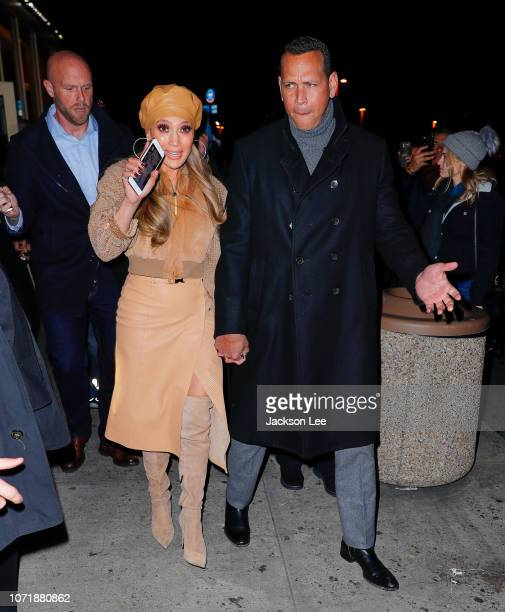 Alex Rodriguez accompanies Jennifer Lopez to a special screening of her new movie 'Second Act' on December 11 2018 in New York City