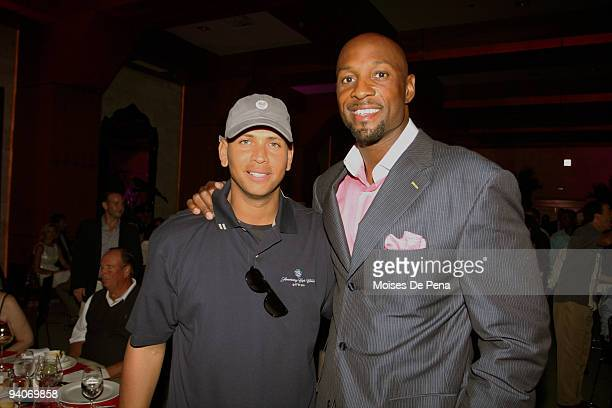 Alex Rodriguez and Alonzo Mourning attends the David Ortiz Celebrity Golf Classic Golf Tournament on December 5 2009 in Cap Cana Dominican Republic