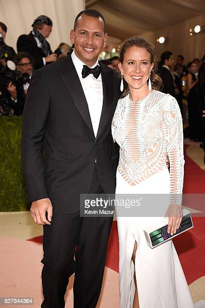 Alex Rodriguez and Anne Wojcicki attend 'Manus x Machina Fashion In An Age Of Technology' Costume Institute Gala at Metropolitan Museum of Art on May...