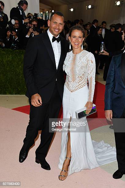 Alex Rodriguez and Anne Wojcicki attend the 'Manus x Machina Fashion in an Age of Technology' Costume Institute Gala at the Metropolitan Museum of...