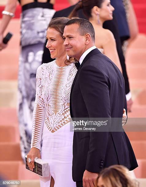 Alex Rodriguez and Anne Wojcicki attends 'Manus x Machina Fashion in an Age of Technology' Costume Institute Gala at Metropolitan Museum of Art on...