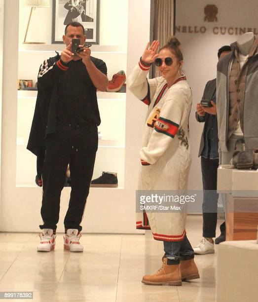Alex Rodriguez and Jennifer Lopez are seen on December 27 2017 in Los Angeles CA