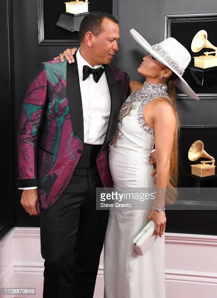 Alex Rodriguez and Jennifer Lopez arrive at the 61st Annual GRAMMY Awards at Staples Center on February 10 2019 in Los Angeles California