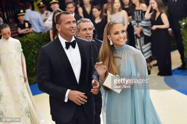 Alex Rodriguez and Jennifer Lopez arrives at 'Rei Kawakubo/Comme des Garcons Art Of The InBetween' Costume Institute Gala at The Metropolitan Museum...