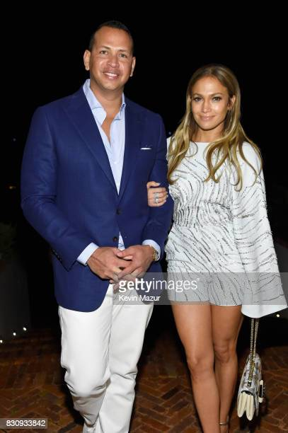 Alex Rodriguez and Jennifer Lopez attend Apollo in the Hamptons 2017 hosted by Ronald O Perelman at The Creeks on August 12 2017 in East Hampton New...