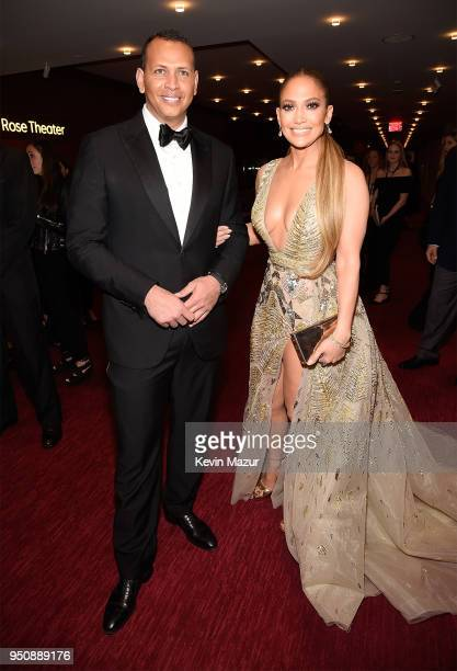 Alex Rodriguez and Jennifer Lopez attend the 2018 Time 100 Gala at Jazz at Lincoln Center on April 24 2018 in New York CityÊ