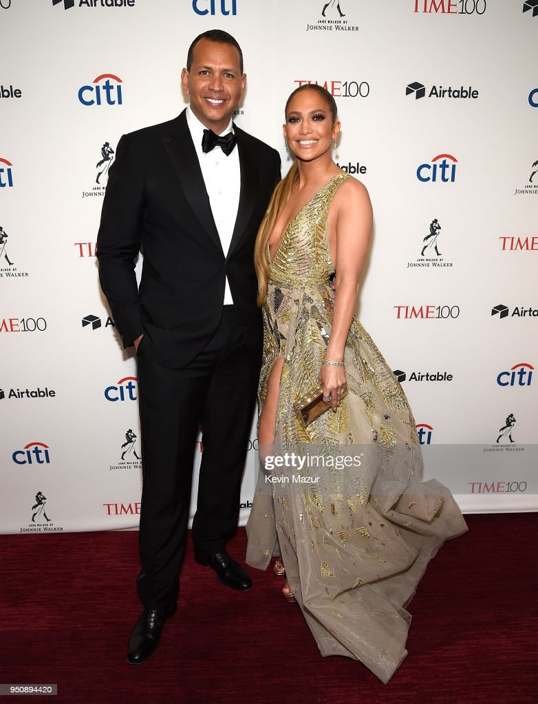 Alex Rodriguez and Jennifer Lopez attend the 2018 Time 100 Gala at Jazz at Lincoln Center on April 24, 2018 in New York City.Ê