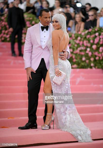 Alex Rodriguez and Jennifer Lopez attend The 2019 Met Gala Celebrating Camp Notes on Fashion at Metropolitan Museum of Art on May 06 2019 in New York...
