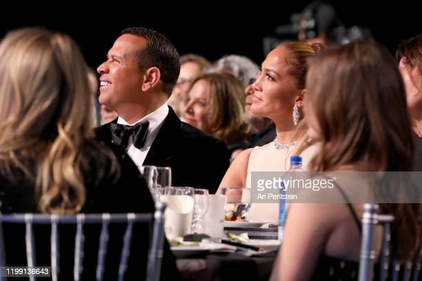 Alex Rodriguez and Jennifer Lopez attend the 25th Annual Critics' Choice Awards at Barker Hangar on January 12, 2020 in Santa Monica, California.