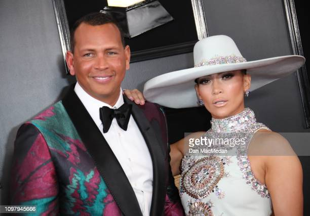 Alex Rodriguez and Jennifer Lopez attend the 61st Annual GRAMMY Awards at Staples Center on February 10 2019 in Los Angeles California