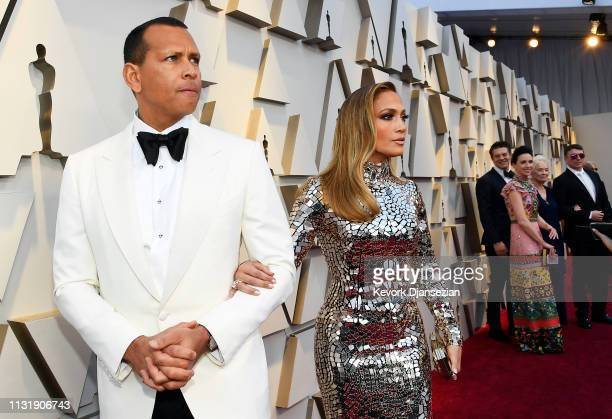 Alex Rodriguez and Jennifer Lopez attend the 91st Annual Academy Awards at Hollywood and Highland on February 24 2019 in Hollywood California