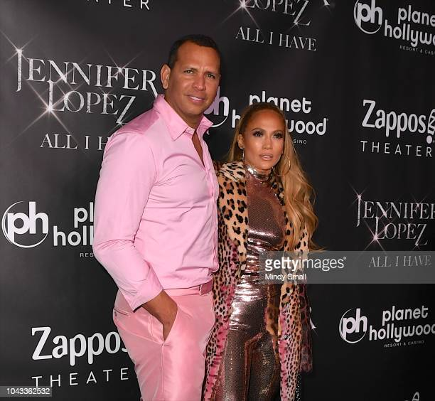 Alex Rodriguez and Jennifer Lopez attend the after party for the finale of the 'JENNIFER LOPEZ ALL I HAVE' residency at MR CHOW at Caesars Palace on...