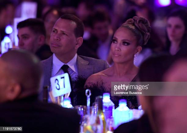 Alex Rodriguez and Jennifer Lopez attend the IFP's 29th Annual Gotham Independent Film Awards at Cipriani Wall Street on December 02, 2019 in New...